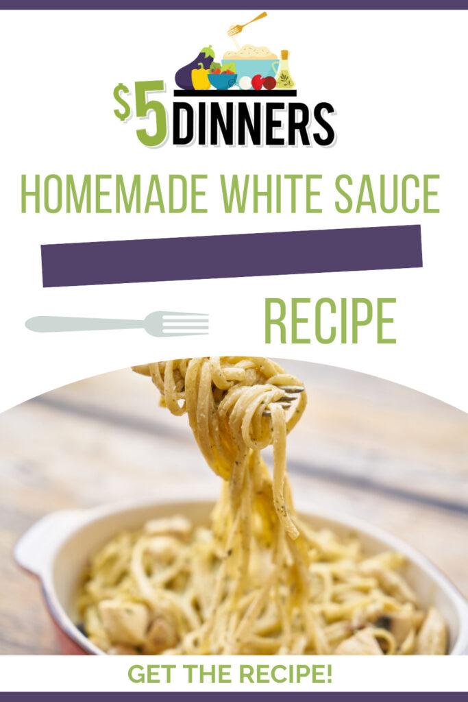 homemade white sauce recipe