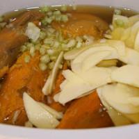 Slow Cooker Sweet Potato and Apple Soup | 5DollarDinners.com