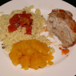 Tomato Roasted Pork with Orzo and Squash | 5DollarDinners.com
