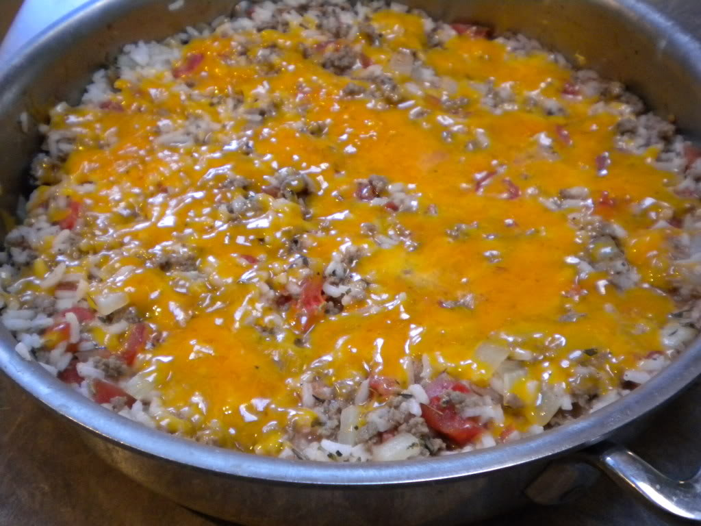 Rice and Beef Skillet Casserole