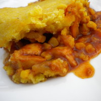 Slow Cooker BBQ Chicken and Cornbread Casserole | 5DollarDinners.com