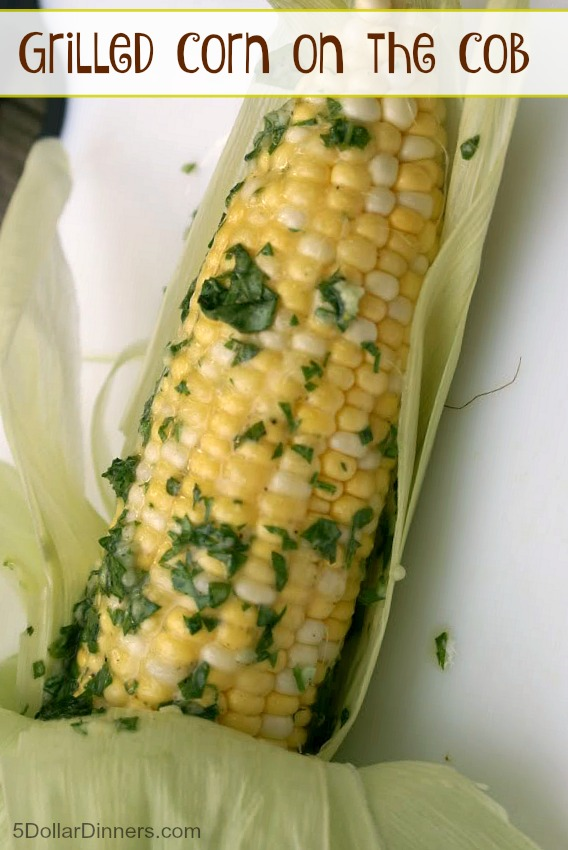 How to Grill Corn on the Cob from 5DollarDinners.com