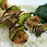 Shrimp Kabobs with Creamy Dijon Dill Sauce | 5DollarDinners.com