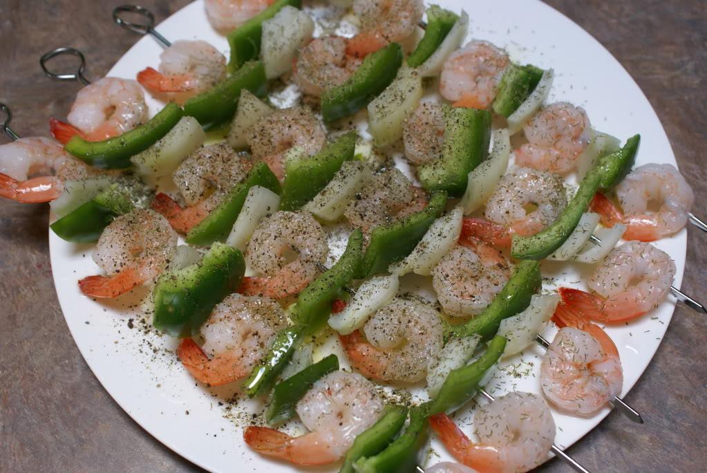 Shrimp Kabobs with Creamy Dijon Dill Sauce   5DollarDinners.com