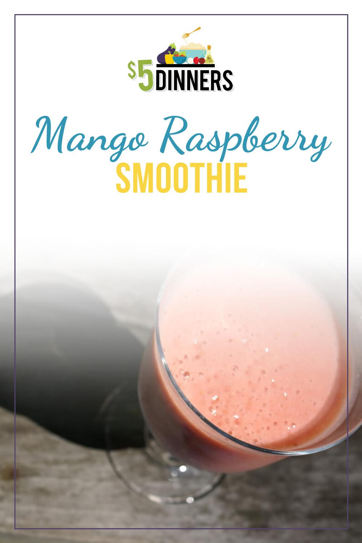 mango raspberry smoothie