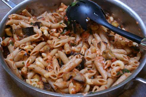 eggplant pasta 5 Eggplant Penne Pasta with How to Prepare Eggplant