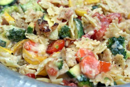 Chicken Pasta Primavera 5 Dinner Challenge