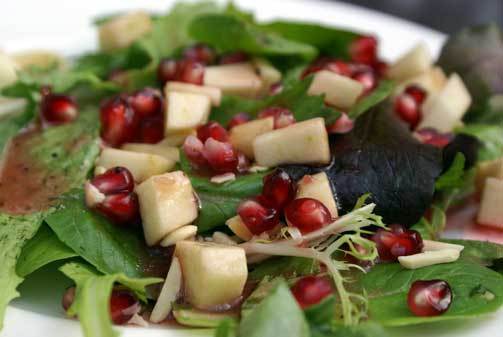 pomegranates-on-salad