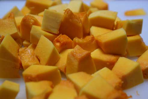 diced butternut squash Maple Roasted Butternut Squash