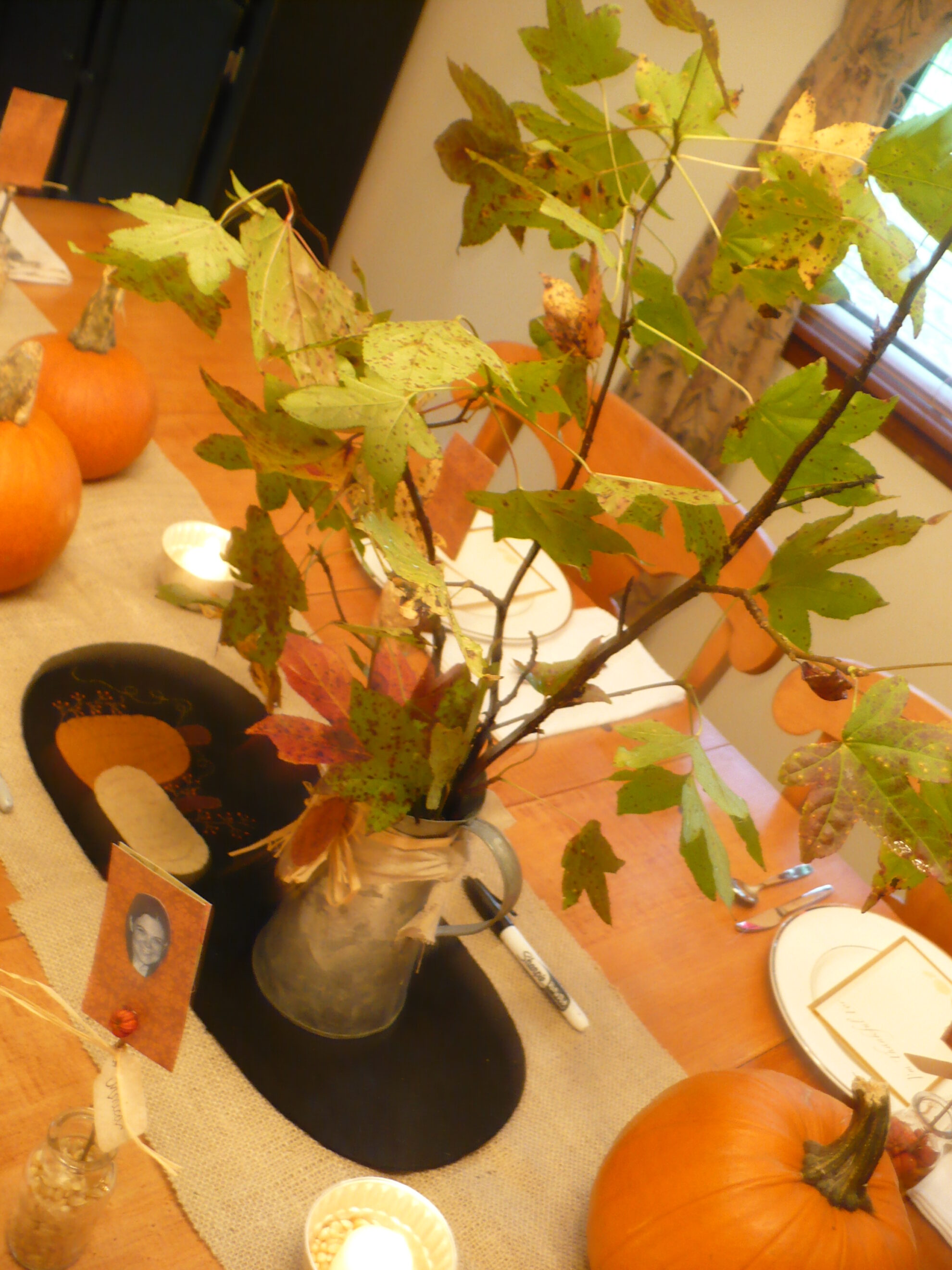 Decorating thanksgiving table on a budget photograph today