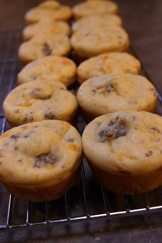 sausage-cheese-muffins