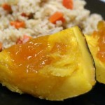 Homemade Chicken and Rice with Apricot Acorn Squash