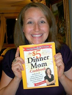 erin and her cookbook