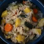 Chicken Zucchini Stew on Rice