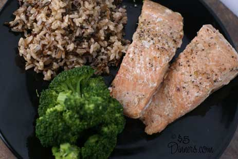 honey ginger salmon Honey Ginger Salmon   $5 Dinner Challenge