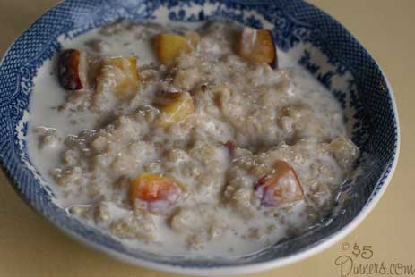 peaches and cream oatmeal Peaches and Cream Oatmeal