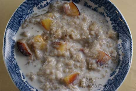 peaches cream oatmeal Peaches and Cream Oatmeal