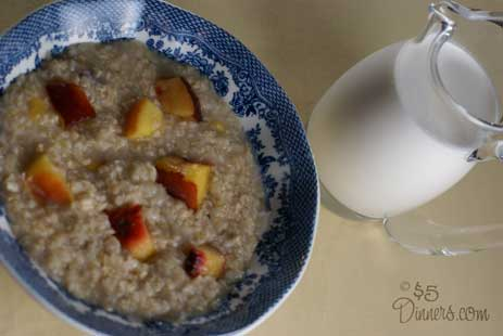 peaches oatmeal with cream Peaches and Cream Oatmeal