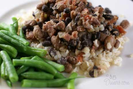 ranchero black and pinto beans