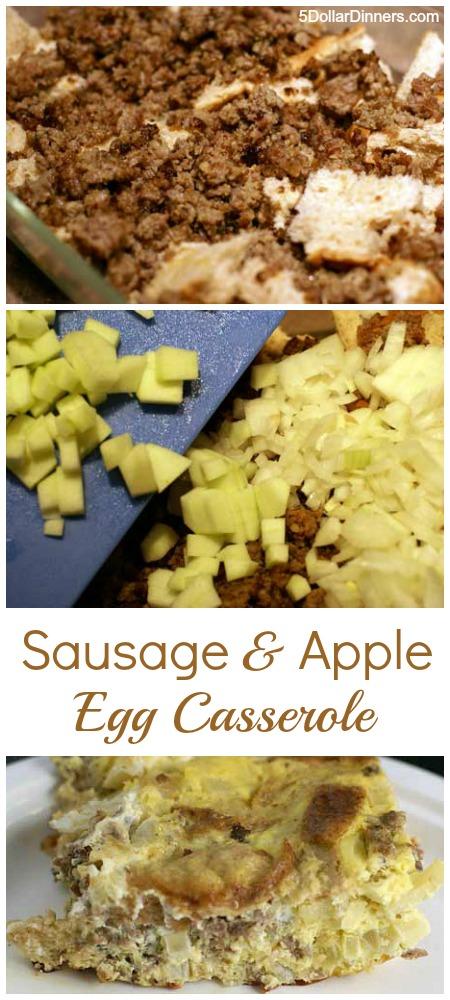 Sausage and Apple Egg Casserole   5DollarDinners.com