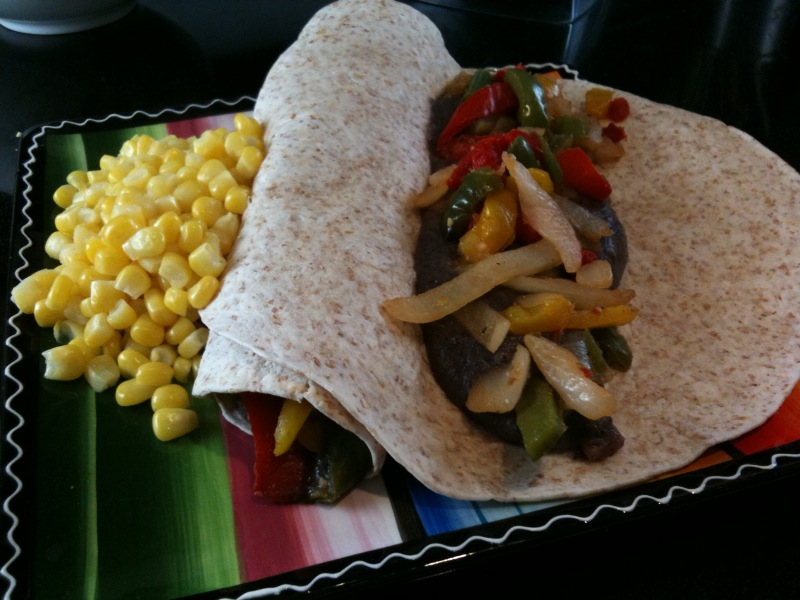 Black Bean Fajitas with Corn