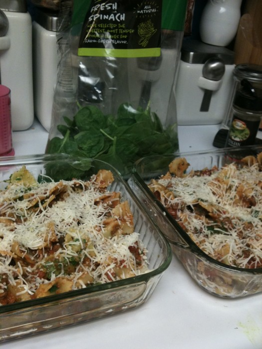 Baked Spinach Pasta