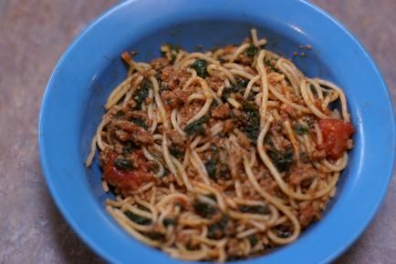 Spinach Spaghetti Recipe on 5DollarDinners.com