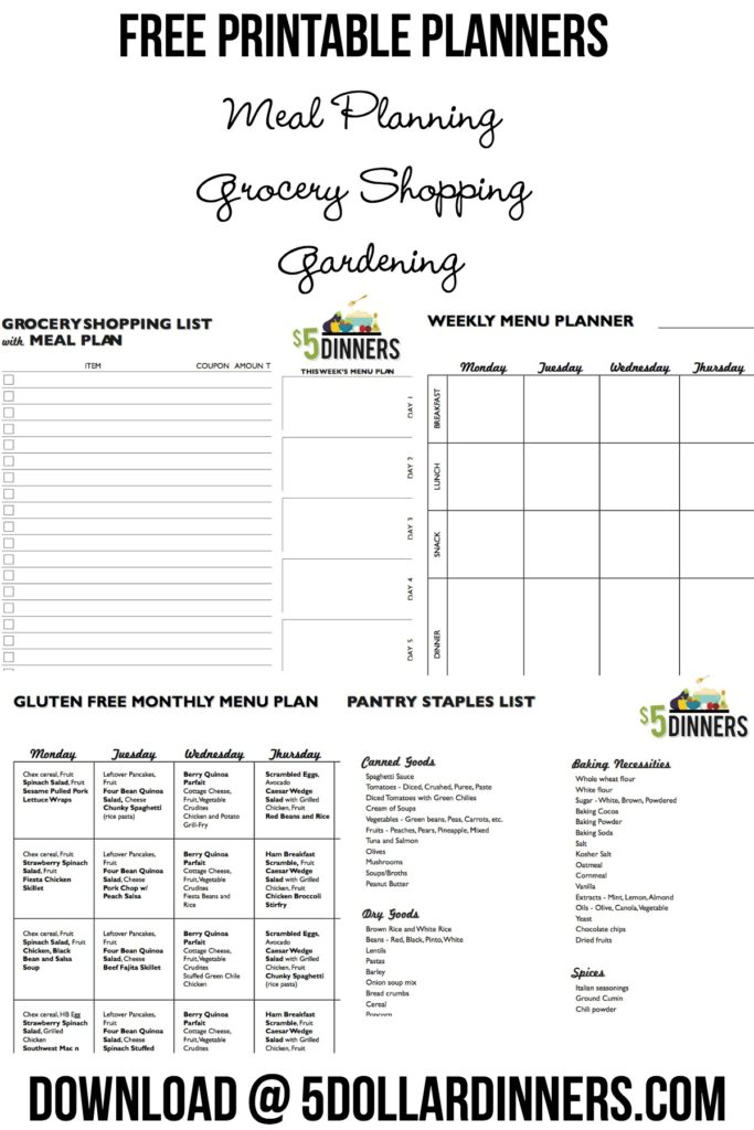 Free Printables from $5 Dinners