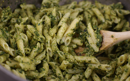 Recipe for Grilled Chicken Spinach Pesto Pasta