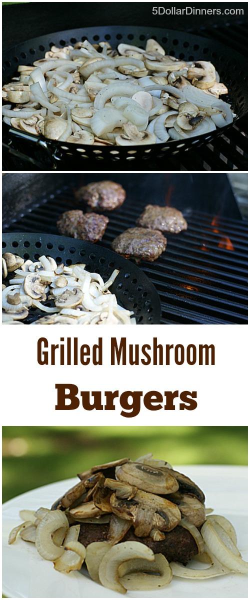 Grilled Mushroom Burgers   5DollarDinners.com