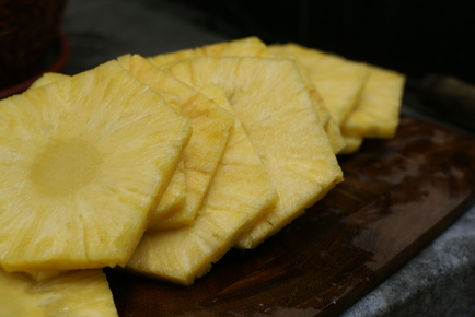 grilled pineapple slices Grilled Hawaiian Pizza