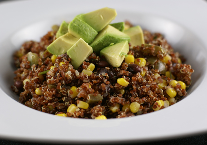 red quinoa with corn black One Dish Dinners   $5 Dinners Round Up