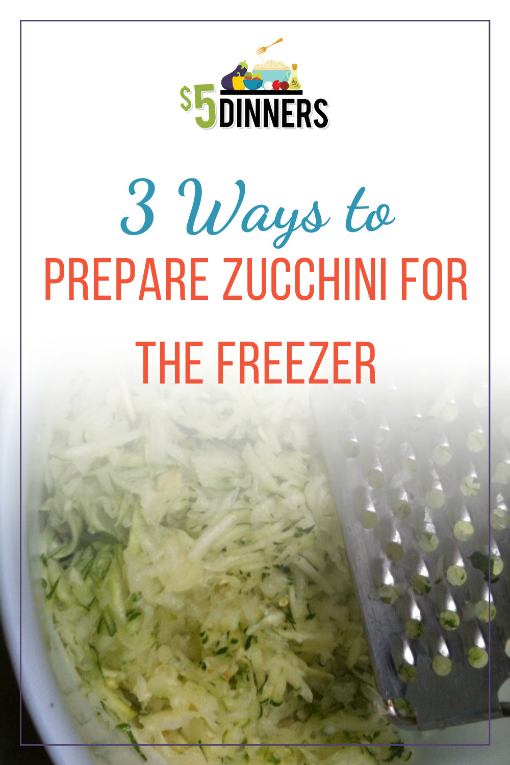 how to process and prepare zucchini for freezer