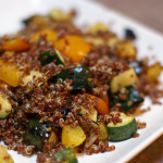 Red Quinoa with Grilled Summer Veggies