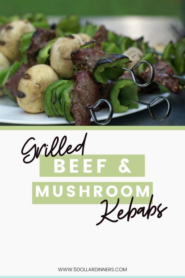 beef and mushroom kebabs