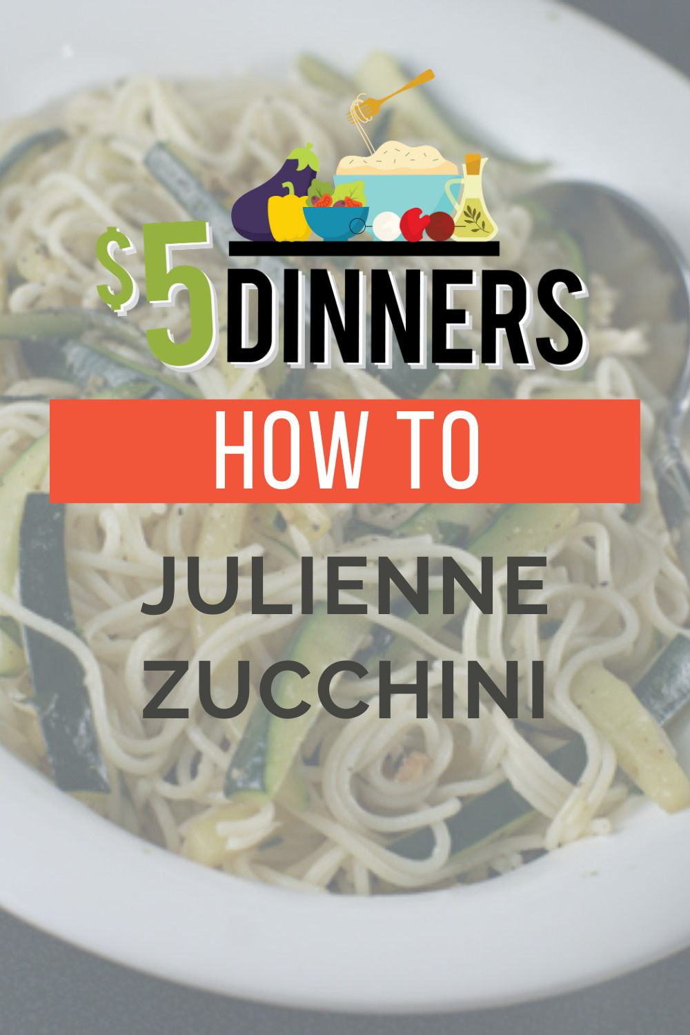 how to julienne zucchini