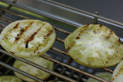 green tomatoes grilled Grilled Green Tomato Slices