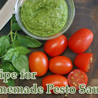 homemade pesto sauce recipe 200x200 How To & Cooking Tutorials