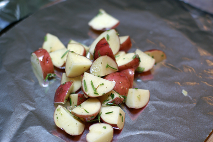 grilled red potato salad