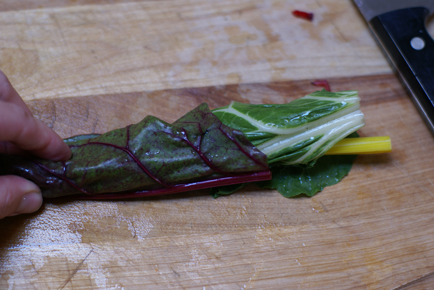 swiss chard rolls Linguini with Bacon and Swiss Chard   Grow. Eat. $ave.
