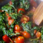 Spinach Tomato Saute
