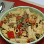 Rigatoni with Italian Sausage and Red Peppers