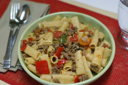 Rigatoni with Italian Sausa Rigatoni with Italian Sausage and Red Peppers