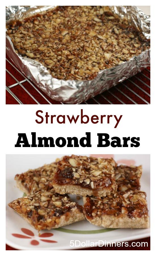Strawberry Almond Bars | 5DollarDinners.com