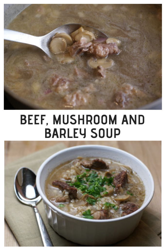 Delicious and hearty Beef, Mushroom and Barley Soup from 5DollarDinners.com