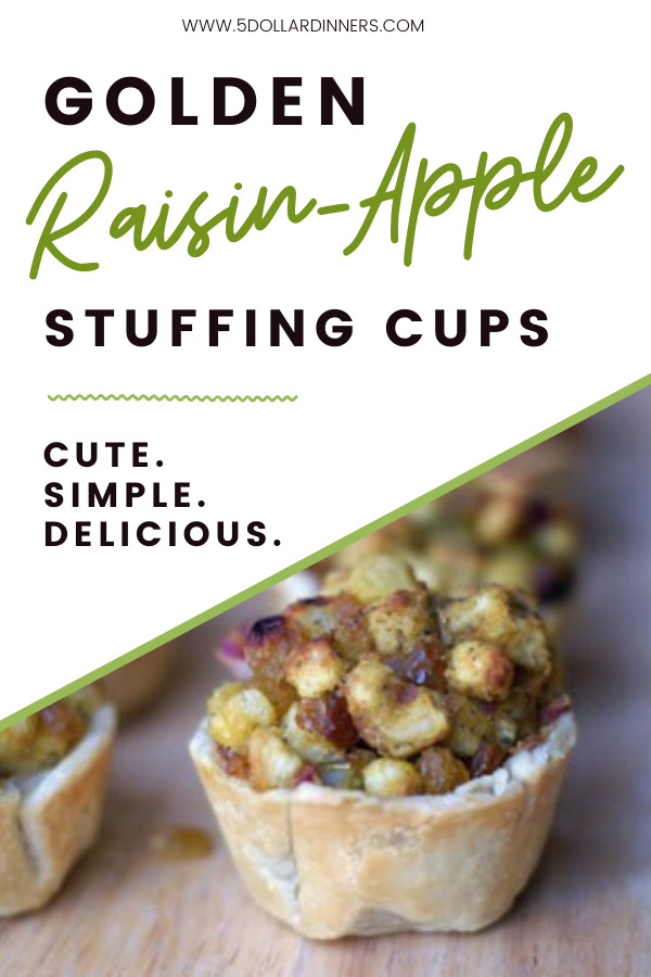 golden raisin-apple stuffing cups