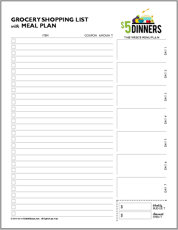 printable screenshot Free Printable Planners