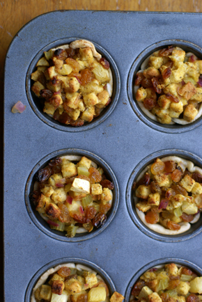 stuffing cups a Golden Raisin Apple Stuffing Cups   Healthy Holiday Recipe