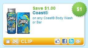 coast body wash or bar coupon Printable Coupons: Print em Before They Are Gone