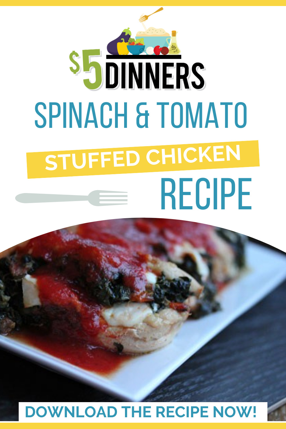 spinach and tomato stuffed chicken